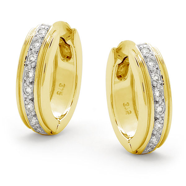 Yellow gold and diamond