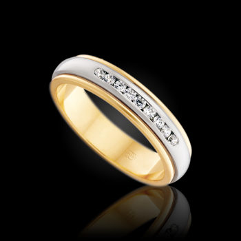Wedding rings with stones